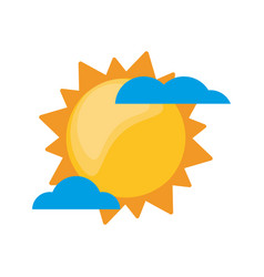 sun clouds weather image vector image