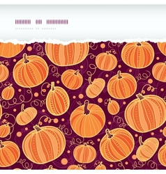 Thanksgiving pumpkins horizontal torn seamless vector image vector image