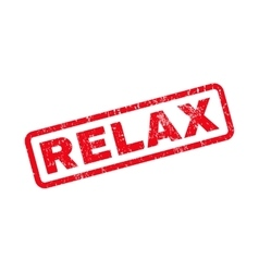 Relax rubber stamp vector