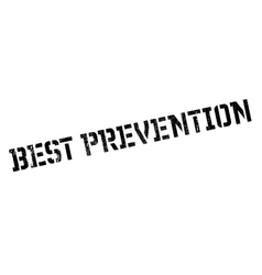 Best prevention rubber stamp vector