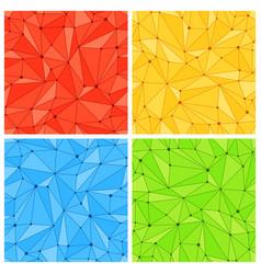 Geometric mesh seamless patterns vector