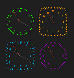 Square and round dials with arrows vector