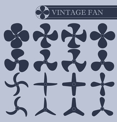 Vintage fan part vector