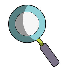 Magnifying glass symbol to search and exploration vector