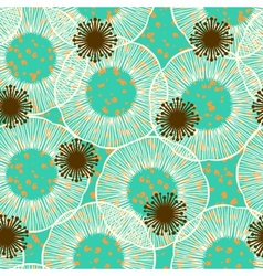 Floral seamless pattern in 50s style vector