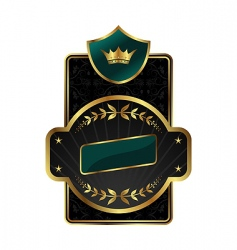 Royal label with golden frame vector