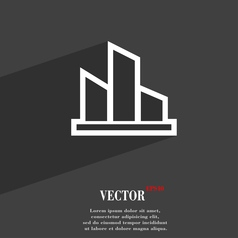 Diagram icon symbol flat modern web design with vector