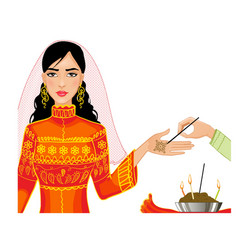 Ceremony at henna night kina gecesi vector