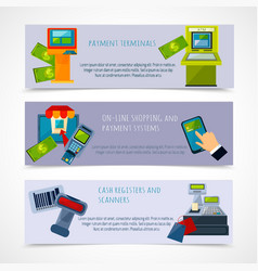 Atm payment banner set vector