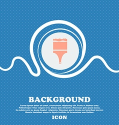 Paint brush sign icon artist symbol blue and white vector