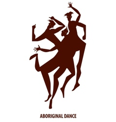 aboriginal dance boy vector image