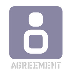Agreement conceptual graphic icon vector