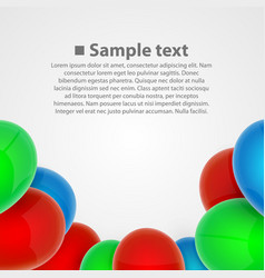 balloon set art object vector image vector image