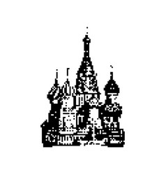 basils cathedral in moscow 8 bit minimalistic vector image