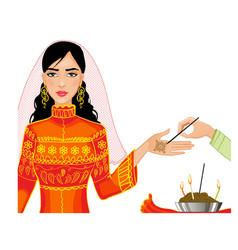 Ceremony at henna night kina gecesi vector