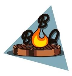 Color vintage barbecue emblem vector image