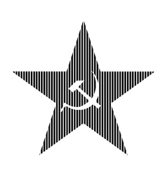 Communism star sign vector