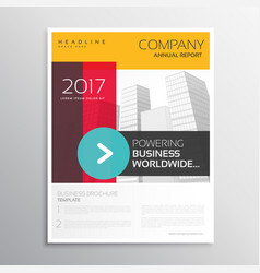 Company leaflet brochure template with colorful vector