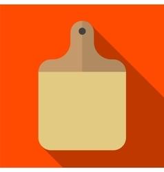 Cutting board flat icon vector