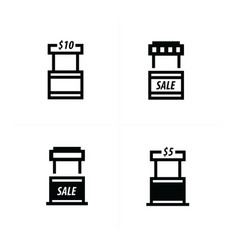 design fast food trolley icons vector image vector image