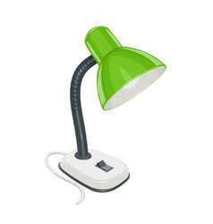 desk electric lamp with green vector image vector image