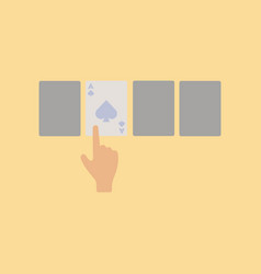 flat icon on stylish background hand playing cards vector image