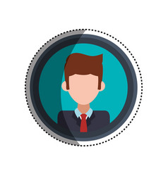 Frame businessman faceless picture vector
