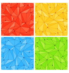 Geometric mesh seamless patterns vector