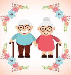 Grandparents concept design vector