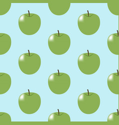 Green apple pattern vector