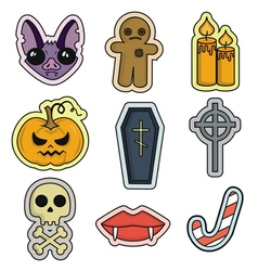 Halloween set icon flat design vector