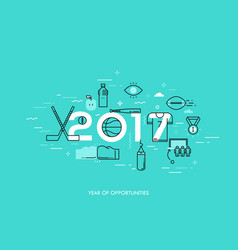 infographic banner 2017 - year of opportunities vector image vector image