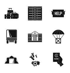 Left country icons set simple style vector