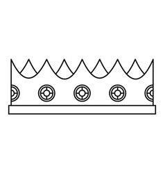 Little crown icon outline style vector