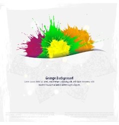 Minimal Indian template in a grunge style vector image