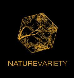 Nature variety logo poster vector