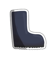 Protective industrial boots vector