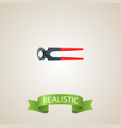 realistic pincers element of vector image vector image