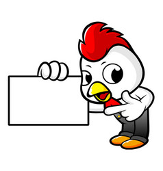 Rooster character has been directed towards vector