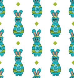 Seamless pattern with easter bunny-4 vector