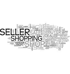 Seller word cloud concept vector