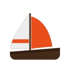 single sailboat icon vector image