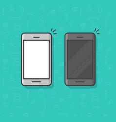 smartphone line outline vector image