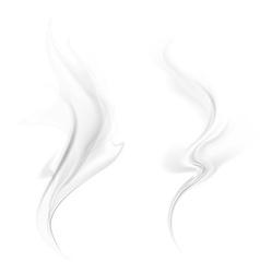 Smoke isolated on white background vector