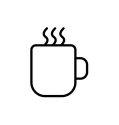 Thin line hot cup icon vector