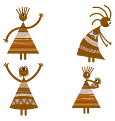 Tribal African womans vector image