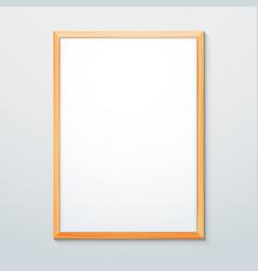 vertical wood texture frame mockup vector image