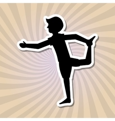 Yoga icon design vector image