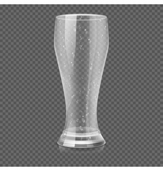 Empty beer glass cup isolated on transparent vector