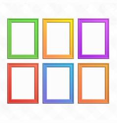 set of colorful wooden frames vector image